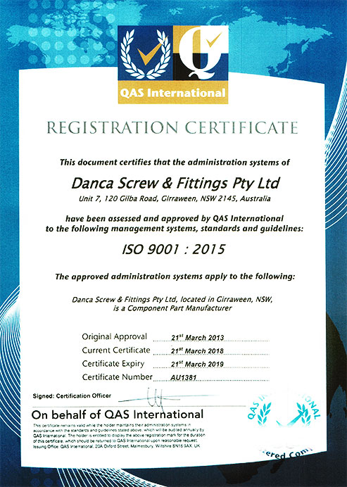 ISO Accreditation Certificate